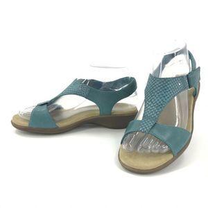 Clarks Womens 6 Blue Sandals Open Toe Slingback